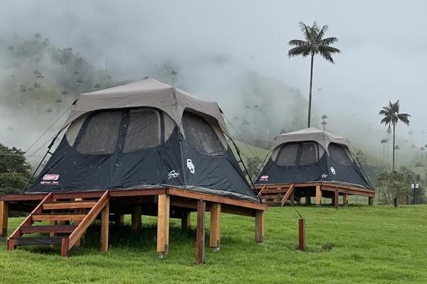 Campings y glampings en Salento Valle de Cocora